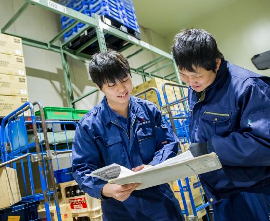 倉庫作業の研修